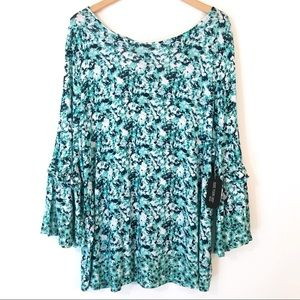 Nine Four One - NWT Bell Sleeves Tie Back Top